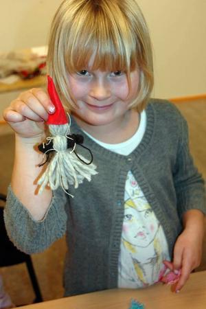 SVÅRT. Isak Ekerlund, 6 år, tycker att det var svårt att pyssla – men kul.