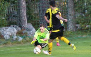 Alexander Blom, målvakt i Stugsunds IK som såg till att hålla liv i matchen.