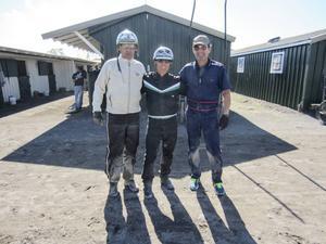 Jan-Olov Persson och Olle Carlsson med den ett år yngre Jimmy Takter i mitten.