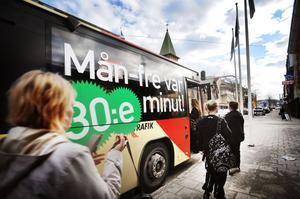 Satsningen med 30-minuterstrafik i centrala Bollnäs har varit lyckad enligt kommunen.