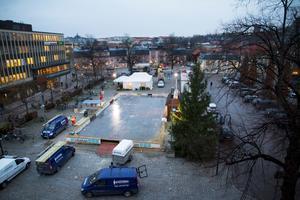 Julgranen på Stora torget i Västerås.
