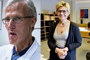 Länsverksamhetschefen Leif Israelsson och sjukhusdirektören Nina Fållbäck Svensson.