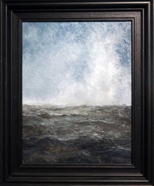 Målningarna på utställningen är från de senaste tre åren. Sedan Kent Royson Karlsson flyttade till Nordingrå har han varit konstnär på heltid.