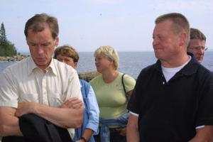 Domaren Jim Emilsson, miljökonsulten Inga-Lill Nyberg och Morängsföreningens Torbjörn Mård vid förhandlingarna.