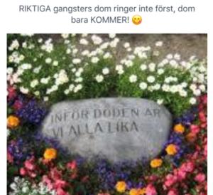 Mannen hade på sin Facebooksida lagt upp den här bilden tillsammans med namnet på åklagaren och hennes barn. Bild ur polisens förundersökning.