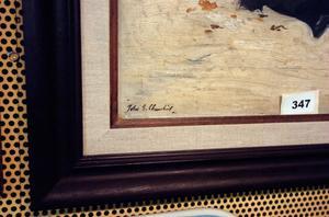 Svart på vitt – en tavla av John Churchill finns med på Hälsingekvalitén.