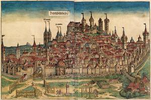 Illustration av Nürnberg ur