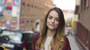 Hannah Wikström från Alfta jobbar på tidningen Frida i Stockholm.