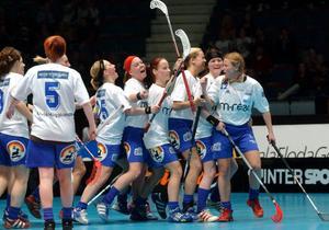 Örnsköldsviks Sportklubb jublar efter SM-guldet 2004, 3-2 mot Södertälje i finalen i Globen. Ö-vik har ytterligare fyra SM-guld och på lördag ska dessa guld firas i Skyttis Arena.