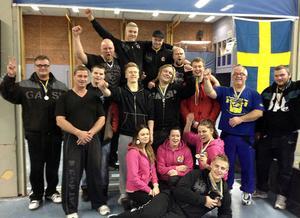 Bollnäs styrkeklubb knep åtta medaljer och fick fyra svenska mästare när bänkpress–SM avgjordes i Nora utanför Örebro.