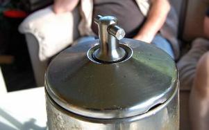 Perkolatorknoppen som håller och passar de med rörelsehinder. Foto: Stefan Rämgård