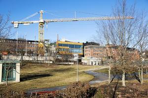 Södertälje Science park, som är under produktion, vill bli en nod för hållbar produktion. Arkivbild.