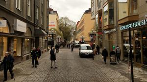 Det kan vara svårt att hitta parkeringsplats för den som ska till Östersunds centrum. Foto: Simon Sjödin