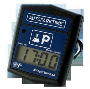 Elektronisk p-skivaAutopark time. Den här elektroniska p-skivan visar automatiskt närmaste hel eller halvtimme från det att du parkerar. Ska vara mycket enkel att montera och är godkänd av de flesta p-bolag. Finns på Teknikmagasinet. Cirkapris: 350 kronor.