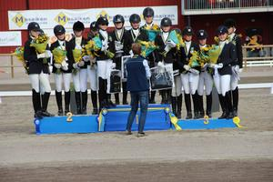 Alla medaljörer från söndagens A-finaler.