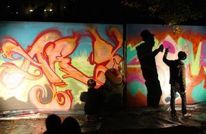 Fredagens graffiti-battle lockade många besökare.