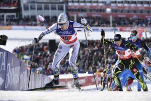 Calle Halfvarsson åkte imponerande i semifinalen av teamsprinten.