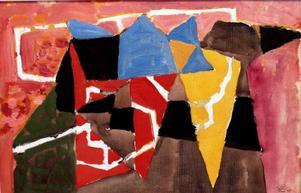 En målning av Lennart Rodhe som köptes in tidigt