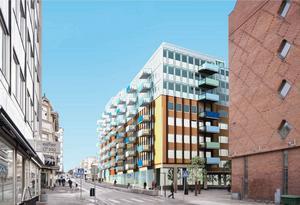 Enligt Byggsigurds planer ska det byggas ytterligare tre våningar på Nygatan. Något som bostadsrättsföreningen Dublin har åsikter om.