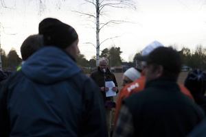 Kommunchefen Claes Rydberg höll tal och hälsade våren välkommen.