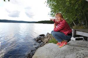 Här utanför Gammellandet söder om Utansjö såg Ullacarin Tiderman den misstänkta ubåten. Efteråt har hon hörts av Försvarsmakten.