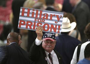 Donald Trump-supporter på Republikanernas konvent i Cleveland.