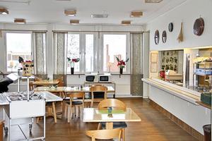 Sörgårdens lunchrestaurang. Gabriel Brånby äter där själv när han deltar i Rotarys onsdagsmöten.