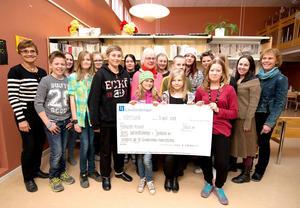 Den 7 maj fick Grevåkerskolans kulturråd och elevråd ta emot en vinstcheck på 5000 kronor. Donator var årets Barnrättskämpe i länet, Ingrid Kallberg.