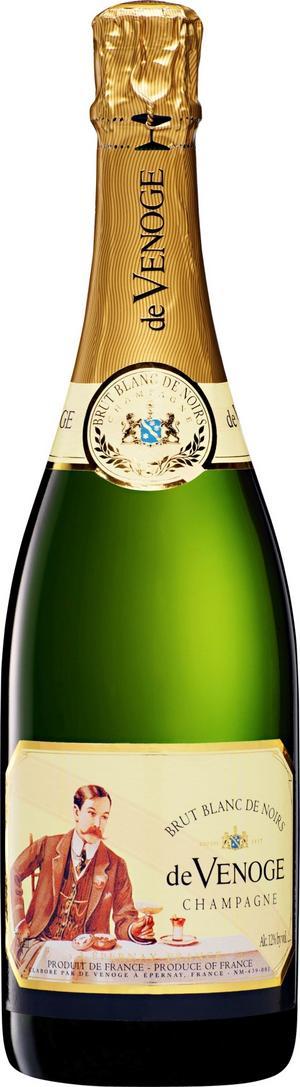 God äkta vara. En riktigt bra champagne i smakrik stil är De Venoge Brut Blanc de Noirs. Och det är inte långt till nyårsafton.