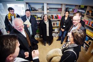Delegationen besökte bland annat biblioteket på Lina grundskola.