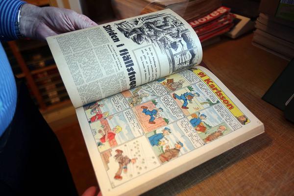 Rudolf Petersson skapade seriefiguren 91:an Karlsson. Samtliga nummer och dessutom Rudolf Perssons originalutgåvor finns i Vemdalen.