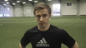 Emil Johansson svarade Skinnskattebergs båda mål i matchen mot Ransta.