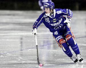 Eric Ågren när Motala spelade i elitserien senast.