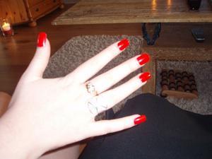 Anita Andresens naglar fick en uppfräschning inför helgen.