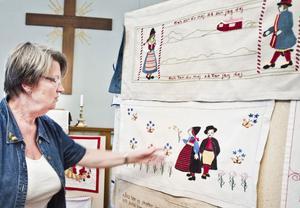 Utställningen Bonader ni minns visade gamla bonader på Knösta bönhus.