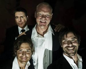 """Mikael Tornving, Andreas Johnson, Magnus Samuelsson och Martin Stenmarck kommer att turnera med showen """"Ladies Night"""" i höst."""