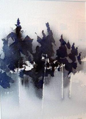 Akvarellmålaren Bengt Jacobsson visar akvareller på Galleri Remi, motiv bland annat hämtade från Lofoten.