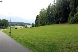 Om kommunen väljer att inte lyssna på länsstyrelsen och Trafikverket så öppnas möjligheten att exempelvis bygga tre så kallade punkthus med sammanlagt cirka 60 bostäder i grönområdet här i hörnet Grottvägen – Högbergsgatan.