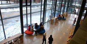 Redan förra året var det fullproppat på så gott som samtliga gymnasium i Borlänge. På Haga, som normalt tar 750 platser tog man in 830 elever. Foto: Mattias Nääs.