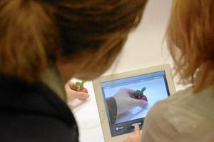 Skaparglädje. Malin Dahl hjälpte Milinda Lindgren att få till en originell film om ett äpple och en mask med ett oförutsägbart slut.Foto: Sofia Gustafsson