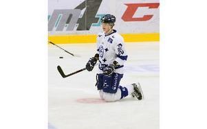 19-årige Fredrik Händemark har varit en av Leksands bästa spelare på sistone. Nu siktar han på en 5–1-seger i kvällens hemmamatch mot nästjumbon Almtuna.foto: jörgen hjerpe