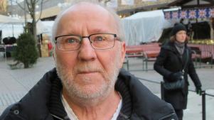Tommy Pettersson, 65, pensionär, centrum: – Som det ser ut nu. Ingen snö tack! Det blir ändå inte det där fina kalla annars utan bara slask.