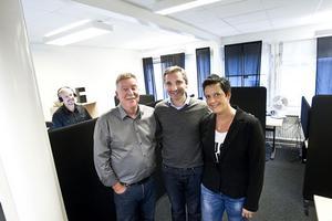 Platschef Bernt Josefsson, vd Hans Wigart samt Närljus näringslivsutvecklare för tjänsteföretag Lotta Wallström.