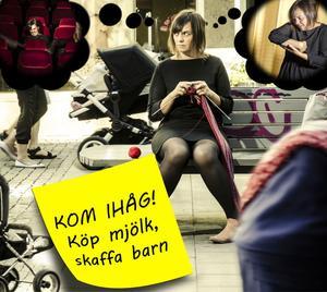 """Se henne framföra sin dikt. """"KOM IHÅG! Köp mjök skaffa barn"""" hittar du i kultursidans digitala version. Första avsnittet av Ingela Walls stå-upp-poesi-följetong släpps i dag."""