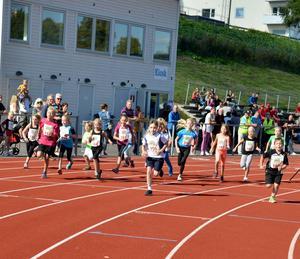 Ett 20-tal Kids startar 800 meter
