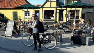 Margaretha Gustavsson är 52 år gammal och bor i Norrköping. Resan till Bornholm var hennes första.   Foto: Pelle Gustavsson