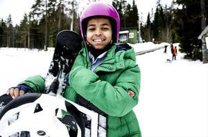 Torsdagen var helt ägnad åt snöiga svängar för Naji Ibrahim.