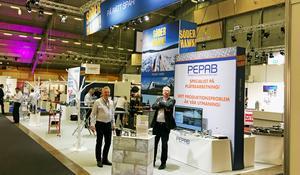 I Söderhamnsmontern knöt Rimaster, Scandymet, JTB och Pepab kontakter under industriföretagarmässan Elmia Subcontractor i Jönköping.