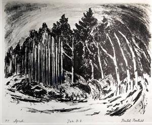 PRISAD. Bertil Bertell har fått Gävle konstgrafikers Guldnyckeln. Hans konst visas just nu i en utställning som pågår till och med 5 december.
