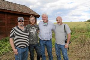 Nöjda. Från höger: Rikard Binning, Mikael Kentlind, Bill och Andy Benning från USA. Foto: Eric Blomqvist